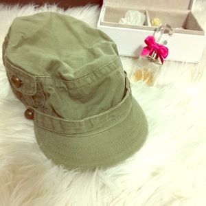 Army green messenger hat